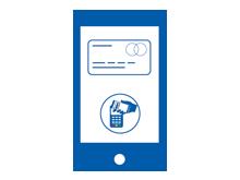 Mobiles Bezahlen mit der Kreditkarte oder beim Online-Shopping