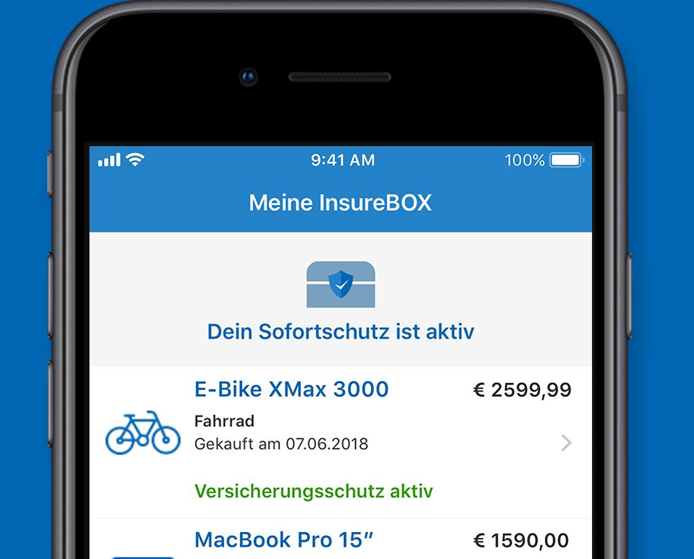 Ansicht InsureBox iOS